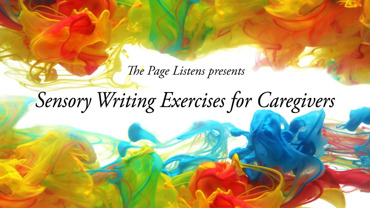 Sensory writing exercises for caregivers