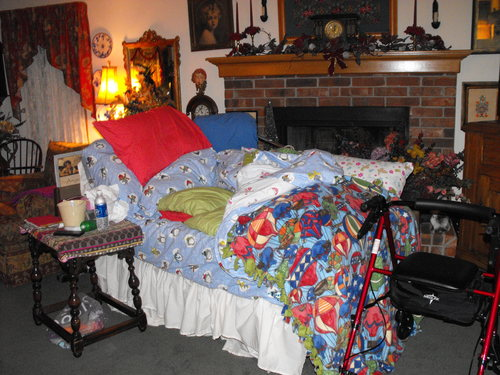 Grief and the empty bed