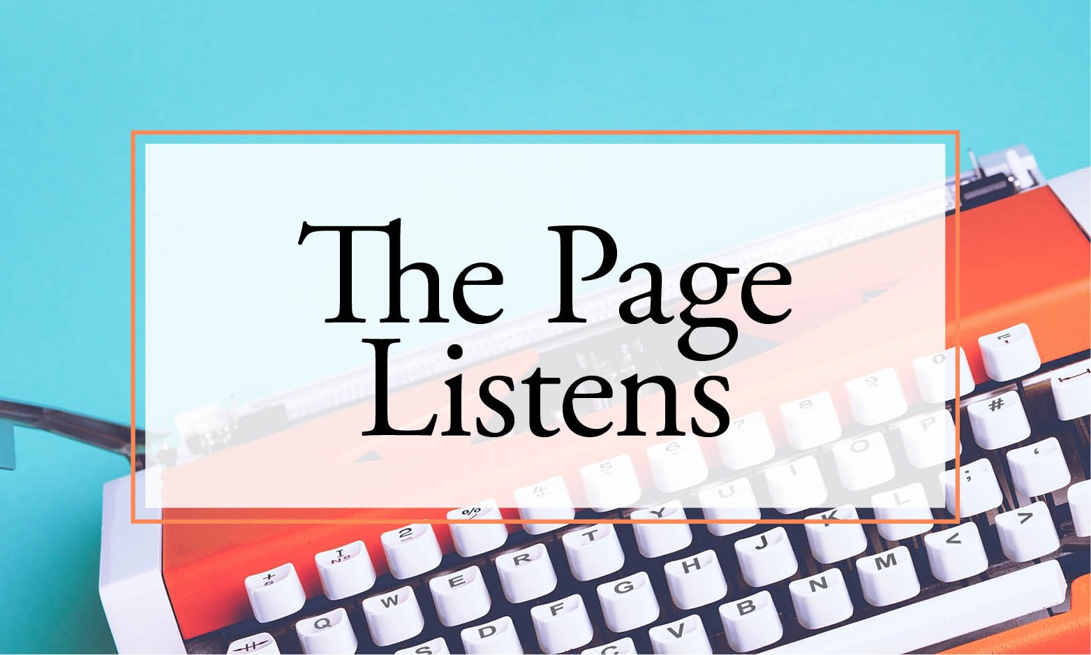 the page listens: journaling for caregivers
