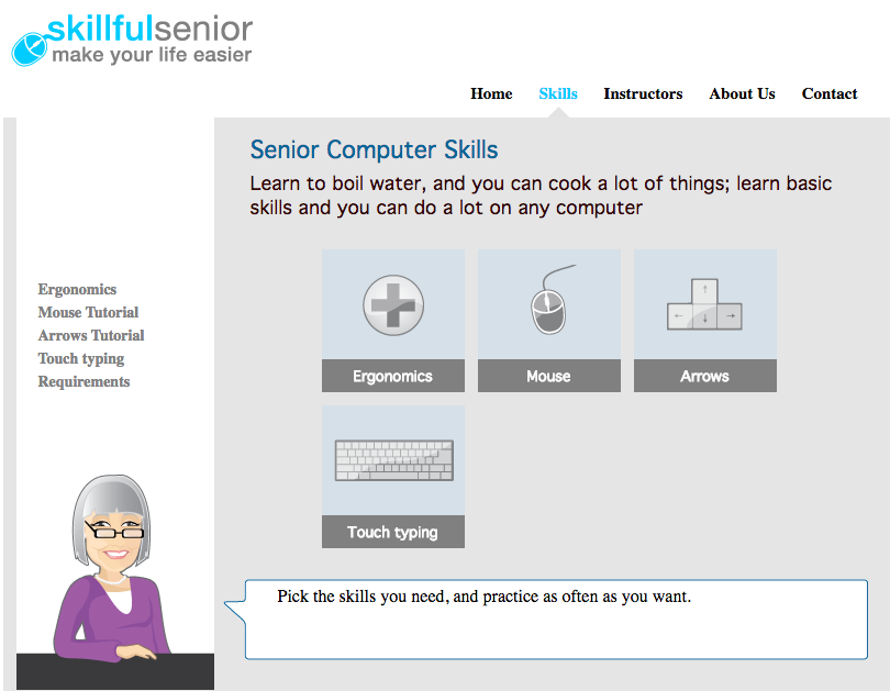 skillful senior mouse skills