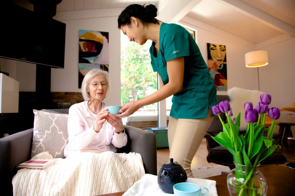 kindlycare professional caregiver and client