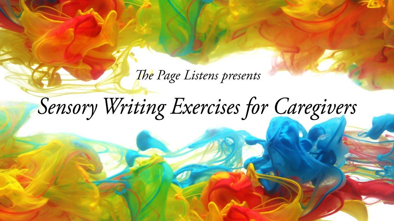 Sensory writing exercises for caregivers