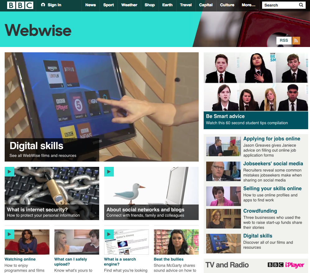 bbc web wise teaches computer skills, how to use the web, and social media basics