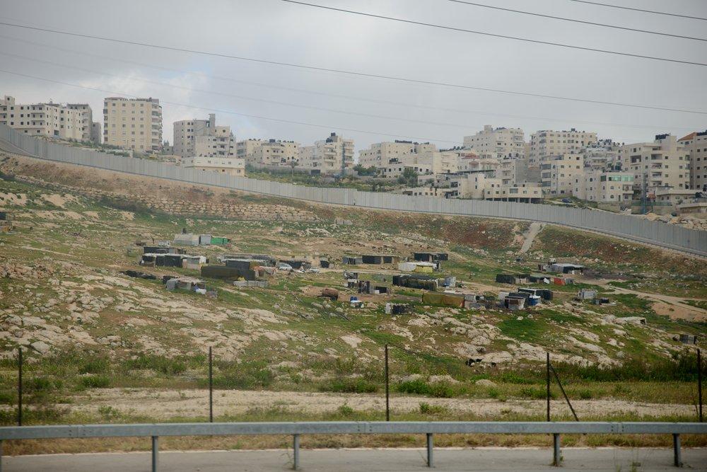 Jerusalem Green Line. Palestine and Israel